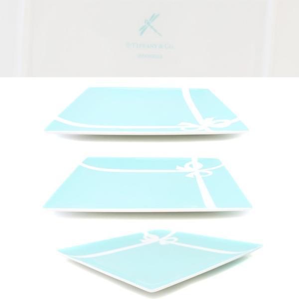 未使用品 ティファニー ブルーボックス スクエアプレート 食器 お皿 磁器 ブルー ホワイト 中古|brandeco|04