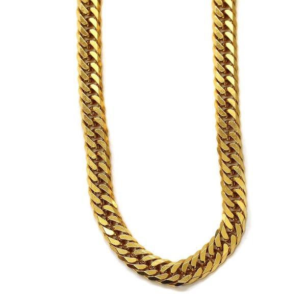 ノーブランド 喜平 6面カット ダブル ネックレス メンズ K18ゴールド ジュエリー イエローゴールド 中古 送料無料 brandeco 02