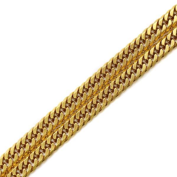 ノーブランド 喜平 6面カット ダブル ネックレス メンズ K18ゴールド ジュエリー イエローゴールド 中古 送料無料 brandeco 04