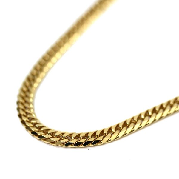 新品仕上げ済み ノーブランド 喜平 6面カット ネックレス メンズ K18イエローゴールド ジュエリー ゴールド 中古 送料無料 brandeco