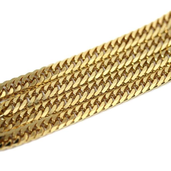 新品仕上げ済み ノーブランド 喜平 6面カット ネックレス メンズ K18イエローゴールド ジュエリー ゴールド 中古 送料無料 brandeco 03