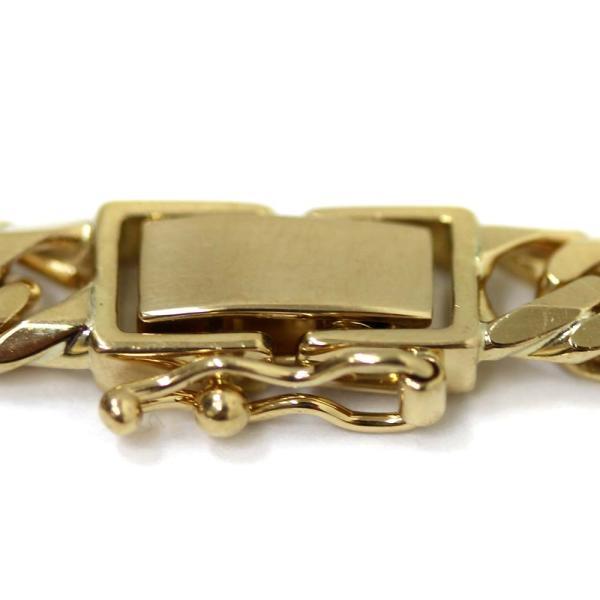 新品仕上げ済み ノーブランド 喜平 6面カット ネックレス メンズ K18イエローゴールド ジュエリー ゴールド 中古 送料無料 brandeco 04