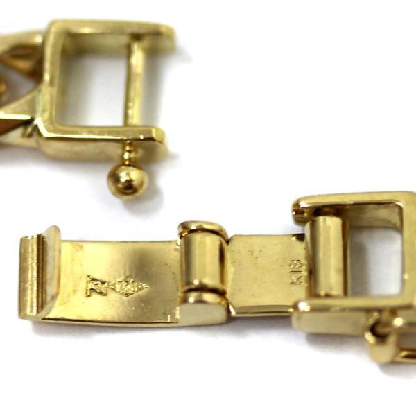 新品仕上げ済み ノーブランド 喜平 6面カット ネックレス メンズ K18イエローゴールド ジュエリー ゴールド 中古 送料無料 brandeco 05