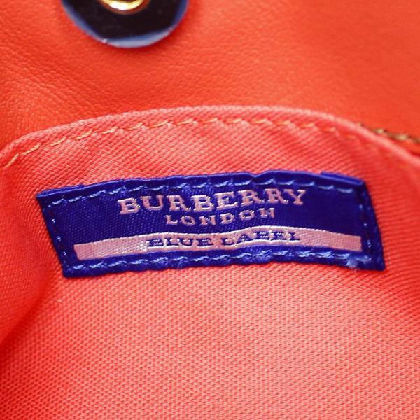 バーバリー ブルーレーベル 2WAY ショルダー ハンドバッグ レディース キャンバス レザー オレンジ 中古 送料無料|brandeco|15