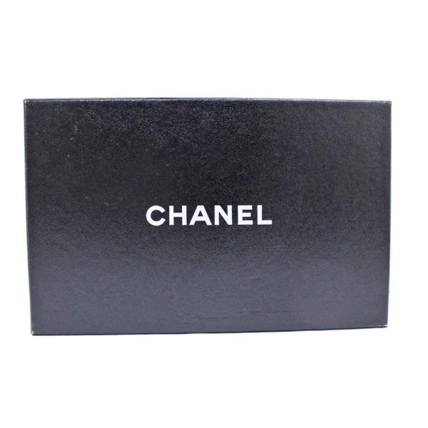 美品 シャネル 二つ折り マトラッセ 長財布 レディース レザー ブラック 中古 送料無料