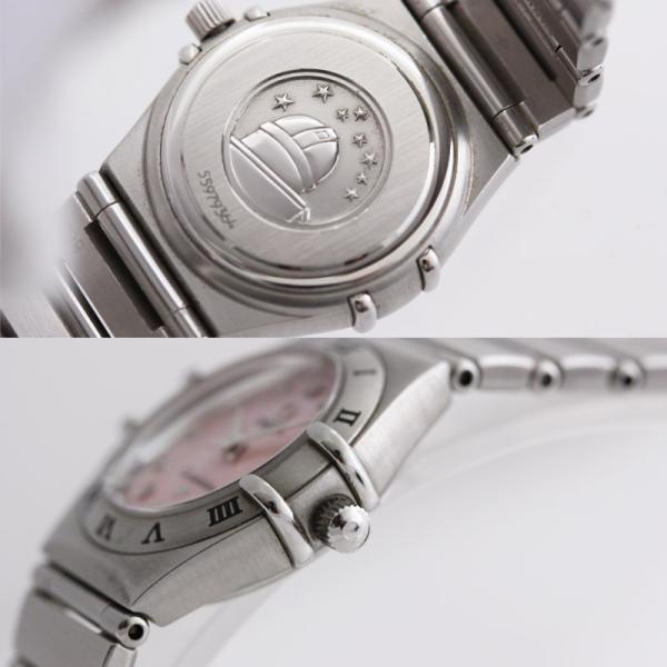 オメガ コンステレーション レディース腕時計 12ポイントダイヤモンド クォーツ 1562.65 電池式 ステンレス ピンクシェル文字盤 シルバー 中古 brandeco 02