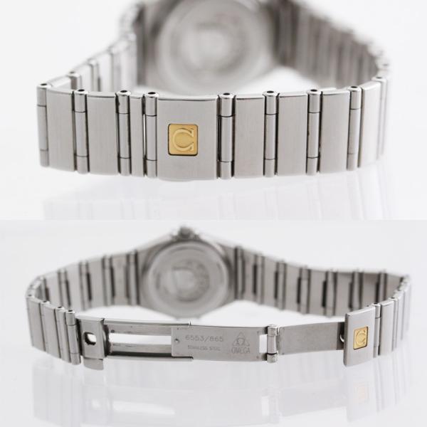 オメガ コンステレーション レディース腕時計 12ポイントダイヤモンド クォーツ 1562.65 電池式 ステンレス ピンクシェル文字盤 シルバー 中古 brandeco 03
