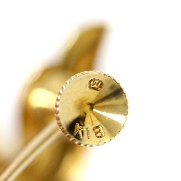 新品仕上げ済み ミキモト パール イヤリング レディース 真珠 K18イエローゴールド ジュエリー ゴールド 中古 送料無料