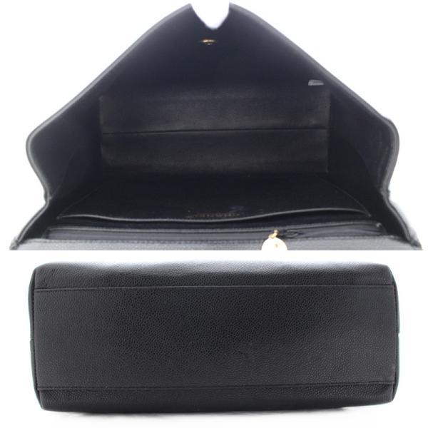 シャネル ココマーク ハンドバッグ トートバッグ レディース キャビアスキン レザー ブラック ゴールド金具 レディース