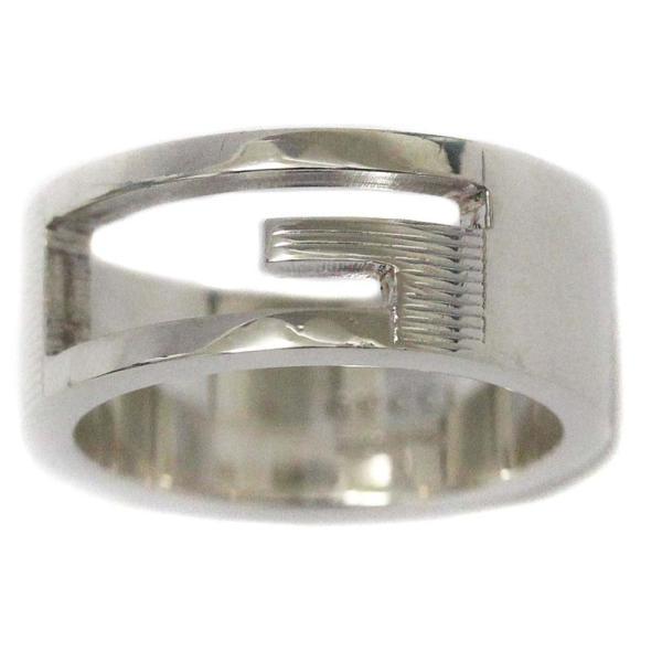 新品仕上げ済み グッチ Gロゴ リング・指輪 レディース シルバー925 アクセサリー 11号 SV 中古|brandeco|02