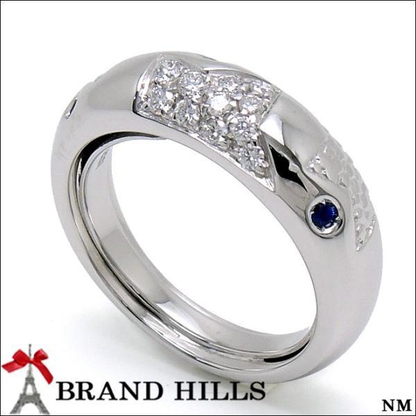 レポシ 750WG サファイア ダイヤモンド リング #12 REPOSSI 指輪 極美品