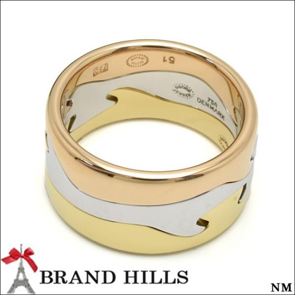 ジョージジェンセン フュージョンリング 3連 750スリーカラー #51 11号  リング 総重量14.3g 指輪 GEORG JENSEN 美品