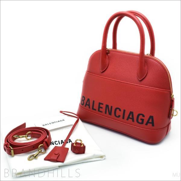 バレンシアガ ハンドバッグ レディース ヴィル トップ ハンドルS レザー ルージュコクリコ 2WAYショルダーバッグ 518873 0OT0M 6513 BALENCIAGA 新品未使用品