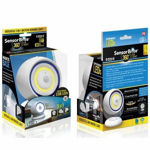 センサーブライト 360 1台3役の人感センサーライト LEDライト 簡単設置 自動点灯 持ち運び 懐中電灯 SensorBrite 防災 非常灯|branding-japan|02