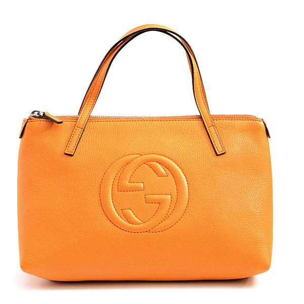 グッチ GUCCI グッチキッズ カーフ インターロッキングG ソーホー ハンドバッグ ミニバッグ オレンジ 340618