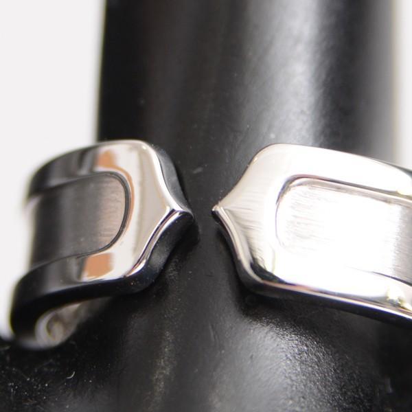 カルティエ Cartier C2リング レディース 15号 750WG ホワイトゴールド 中古