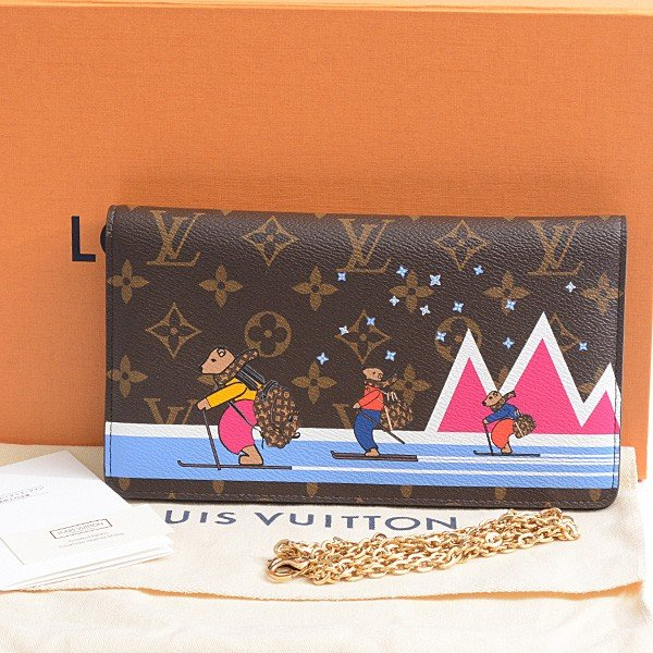 ルイヴィトン Louis Vuitton ポシェット・ウィケンド チェーンウォレット レディース M63857 未使用展示品|brandmax|09