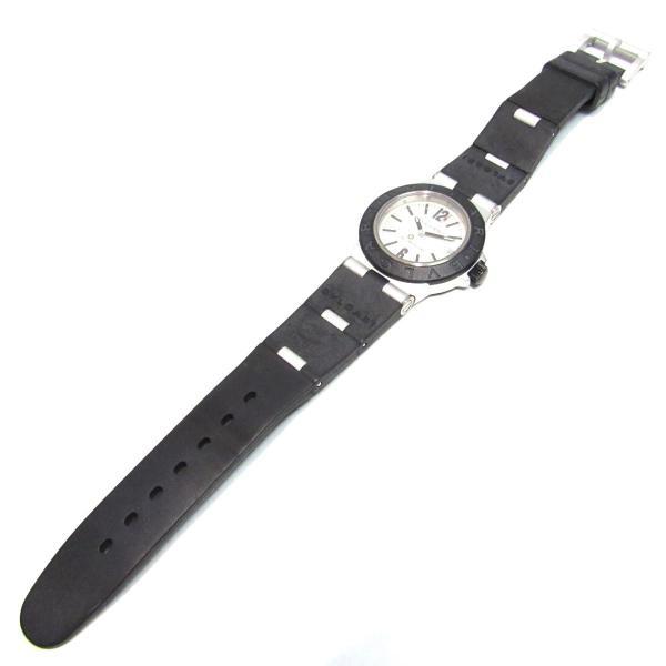 ブルガリ アルミニウム 腕時計 ウォッチ ブラックxシルバー アルミニウムxラバー AL32TA ランクA