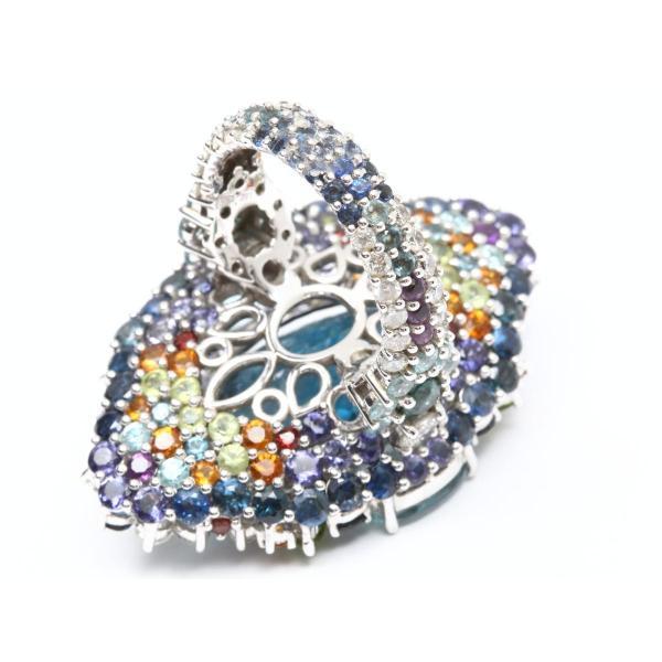 ジュエリー ブルートパーズ ダイヤモンド マルチ リング 指輪  ランクA 21号