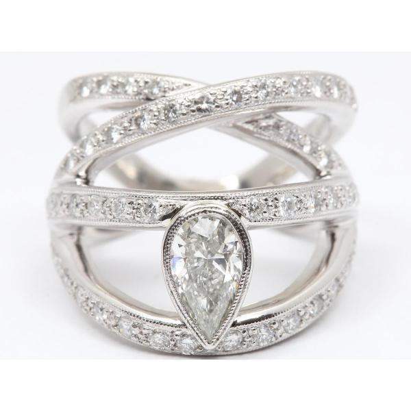 ジュエリー ダイヤモンド リング 指輪 PT900 プラチナ x ダイヤモンド(0.97ct/1.02ct) ランクA 14号