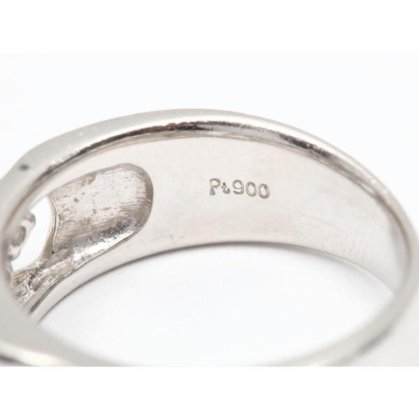 ジュエリー ダイヤモンド リング 指輪 PT900 プラチナ x ダイヤモンド(0.59ct) ランクA 12号