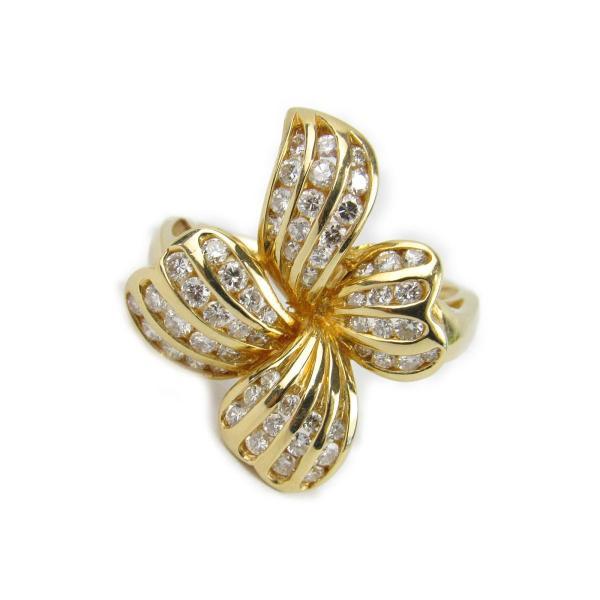 ジュエリー ダイヤモンド リング 指輪 K18YG(750) イエローゴールドxダイヤモンド0.71ct ランクA 10号
