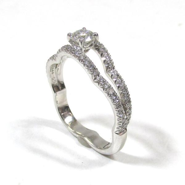 シャネル カメリア ダイヤモンド リング 指輪 K18WG(750) ホワイトゴールド x ダイヤモンド  ランクA 11号
