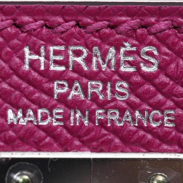 エルメス ケリー25 外縫い ハンドバッグ ローズパープル(金具:シルバー) ヴォーエプソン  ランクS