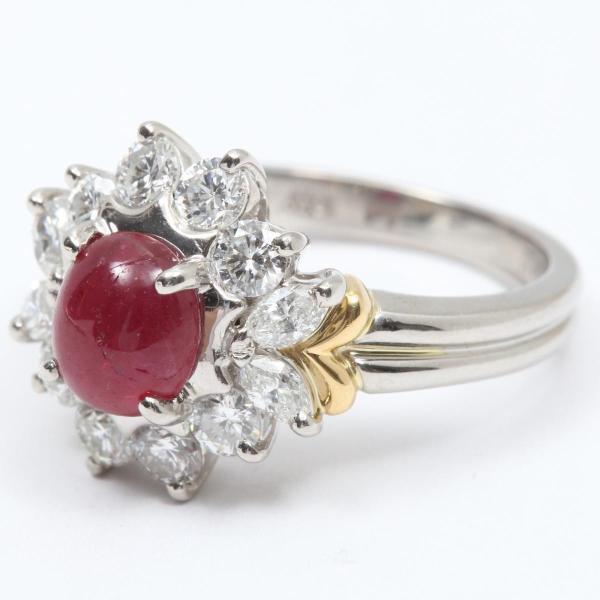 ジュエリー 色石 ダイヤモンド リング 指輪 PT900 プラチナ x 色石(1.24ct) x ダイヤモンド(0.78ct) ランクA 8号