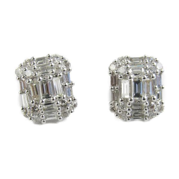 ジュエリー ダイヤモンド ピアス K18WG(750) ホワイトゴールドxダイヤモンド0.50ctx2 新品