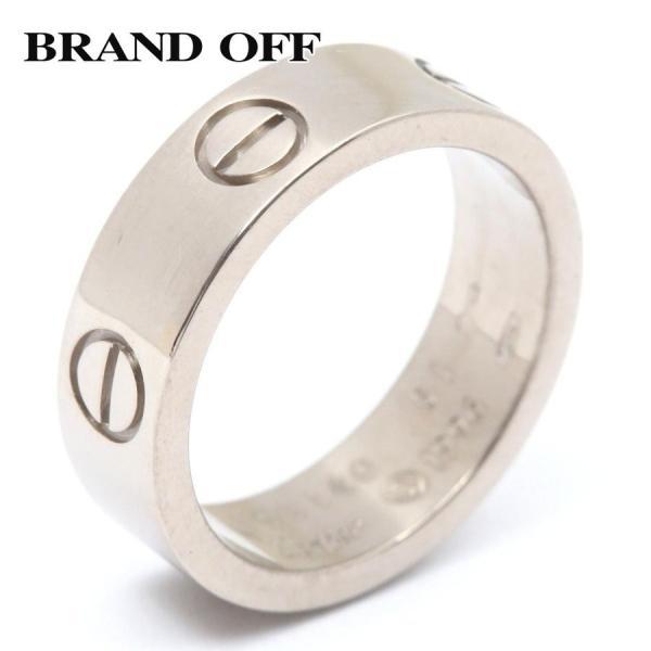 カルティエ ラブリング 指輪 K18WG(750) ホワイトゴールド  ランクA #51/11号