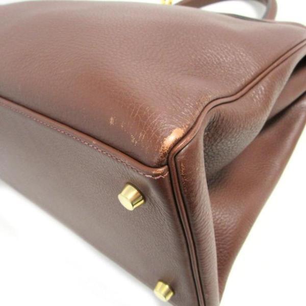 エルメス ケリー35 ハンドバッグ 内縫い ハバナ(ゴールド金具) トリヨンクレマンス  ランクB