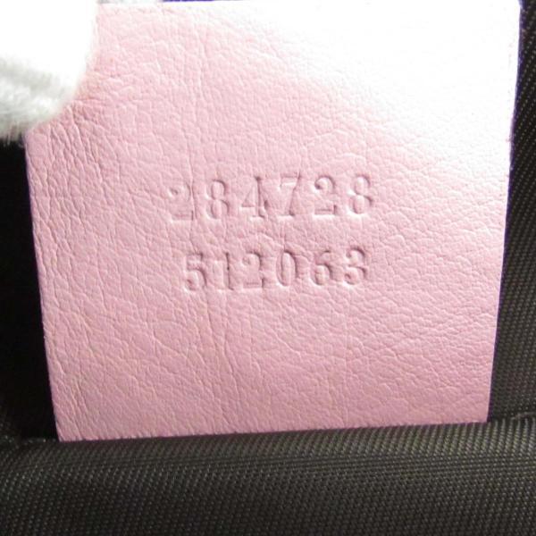 dcfe8cd640e3 ... グッチ GGキャンバス キッズライン ミニトートバッグ ピンク x ベージュ キャンバス x レザー 284728 ランクA ...