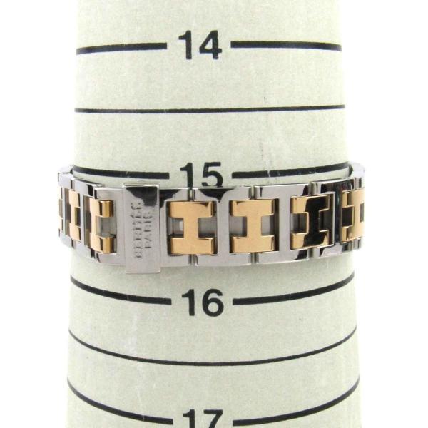 エルメス クリッパーナクレ 腕時計 ウォッチ ホワイト ステンレススチール(SS)xGP(ゴールドメッキ) CL4.220 ランクA