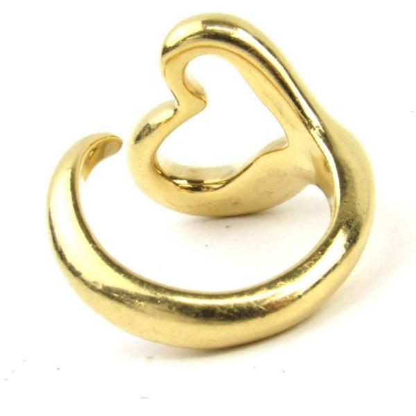 ティファニー オープンハート リング 指輪 K18YG(750) イエローゴールド  ランクA 8号