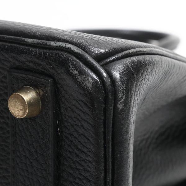エルメス オータクロア32 ハンドバッグ ブラック(金具:ゴールド) トゴ  ランクB