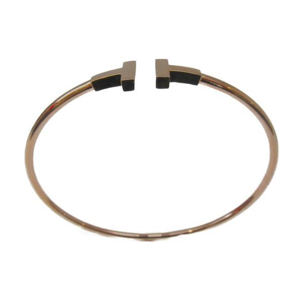 ティファニー Tワイヤーブレスレット K18PG(750) ピンクゴールド  ランクA