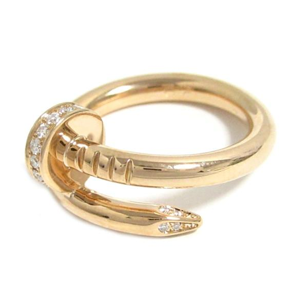 カルティエ ジュストアンクル ダイヤリング 指輪 K18PG(750) ピンクゴールド ダイヤモンド  ランクA #50/9号