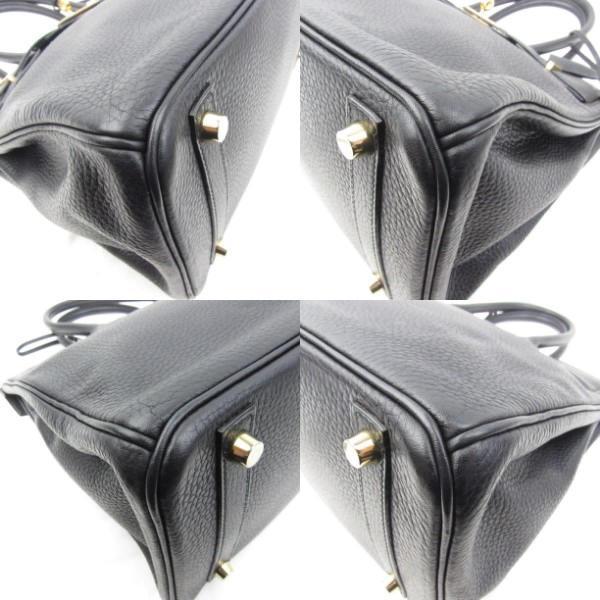 エルメス バーキン30 ハンドバッグ ブラック(金具:ゴールド) トリヨンクレマンス  ランクA