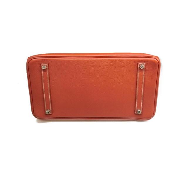 エルメス バーキン35 キャンディ ハンドバッグ ブリック x オレンジ (シルバー金具) ヴォーエプソン  ランクA