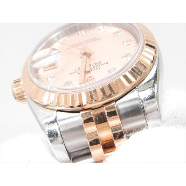 残価据置型クレジット月々20,000円コース対象 ロレックス デイトジャスト 腕時計 ピンク ステンレス(SS)xK18PGxダイヤモンド(10P) 179171G