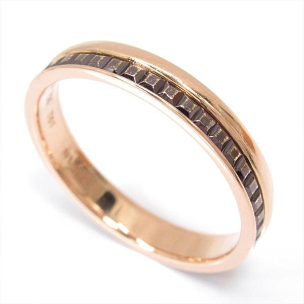 ブシュロン キャトルリング 指輪 K18PG(750) ピンクゴールドxブラウンPVD  ランクA #61/20号