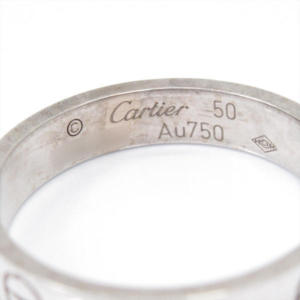 カルティエ ミニラブリング 指輪 K18WG(750) ホワイトゴールド CRB4085150 ランクB #50/10号
