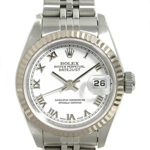 uk availability 2552d 76e1a ロレックス デイトジャスト 腕時計 ウォッチ レディース シルバー ステンレススチール(SS)×K18WG(750)ホワイトゴールド 79174