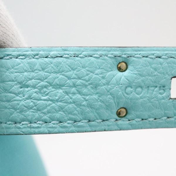 エルメス ケリー32 内縫い 2way ハンドバッグ ブルーアトール トゴ  ランクA