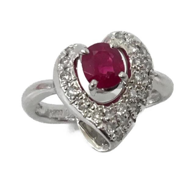 ジュエリージュエリー ルビー ダイヤモンド リング 指輪 PT900 プラチナ×ルビー(1.06ct)×ダイヤモンド(0.27ct) ランクA