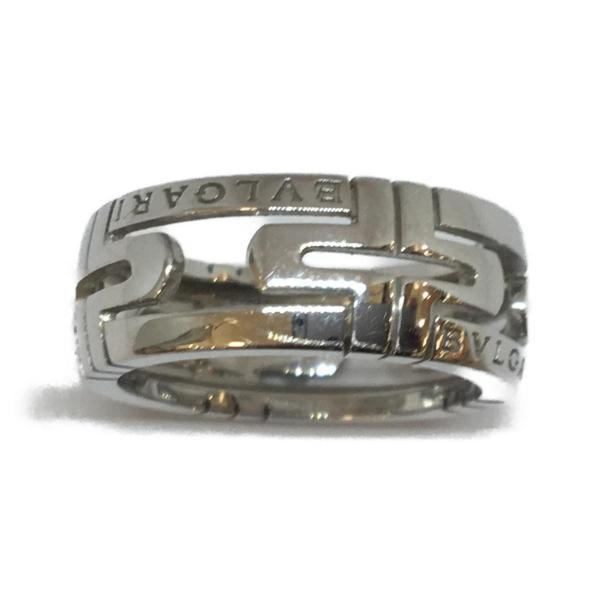 ブルガリ ジュエリー パレンテシリング 指輪 K18WG(750) ホワイトゴールド  ランクA #53/12.5号