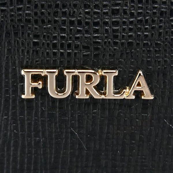 フルラ FURLA レディース バッグチャーム ハート ミラー付 レザー キーホルダー ブラック RS20 B30 O60 / 993054 [在庫品]