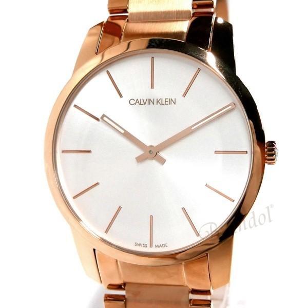 カルバンクライン Calvin Klein メンズ 腕時計 シティ 43mm シルバー×ローズゴールド K2G216.46 [在庫品]|brandol|03
