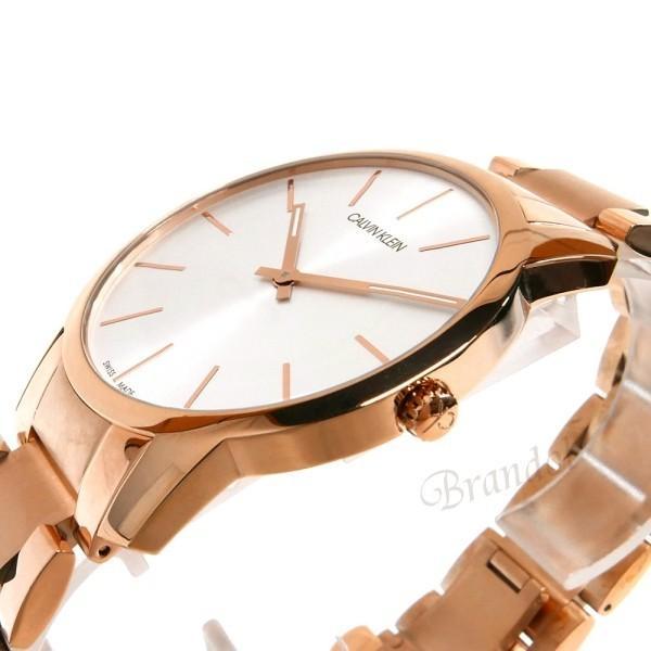 カルバンクライン Calvin Klein メンズ 腕時計 シティ 43mm シルバー×ローズゴールド K2G216.46 [在庫品]|brandol|04